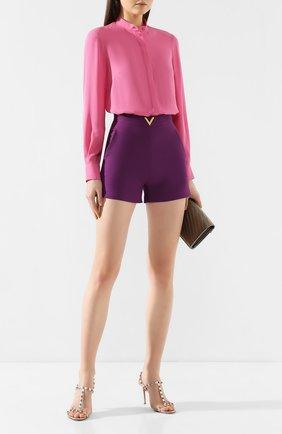 Женская шелковая рубашка ALEXANDER MCQUEEN розового цвета, арт. 610772/QBAAF | Фото 2