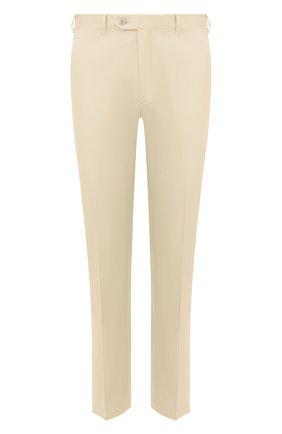Мужской брюки из смеси хлопка и шелка BRIONI бежевого цвета, арт. RPL60Q/P9062/TIGULLI0 | Фото 1