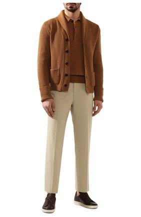 Мужской брюки из смеси хлопка и шелка BRIONI бежевого цвета, арт. RPL60Q/P9062/TIGULLI0 | Фото 2
