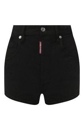 Женские джинсовые шорты DSQUARED2 черного цвета, арт. S80MU0002/S39781 | Фото 1