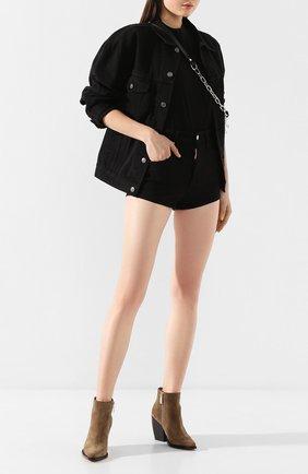 Женские джинсовые шорты DSQUARED2 черного цвета, арт. S80MU0002/S39781 | Фото 2
