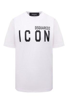 Женская хлопковая футболка DSQUARED2 белого цвета, арт. S80GC0001/S23009 | Фото 1