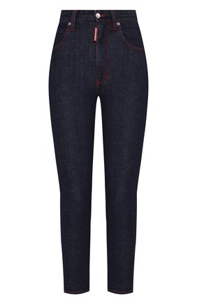 Женские джинсы DSQUARED2 темно-синего цвета, арт. S75LB0296/S30595 | Фото 1