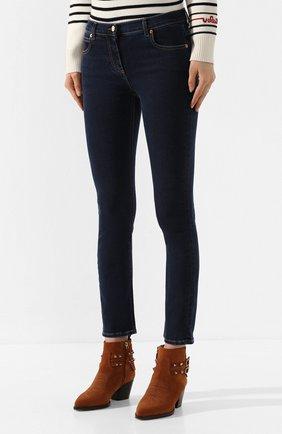 Женские джинсы VALENTINO синего цвета, арт. TB3DD09F55A | Фото 3