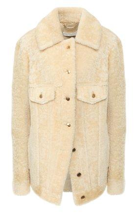 Женская куртка из овчины CHLOÉ белого цвета, арт. CHC20SCV01203 | Фото 1
