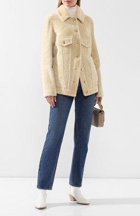 Женская куртка из овчины CHLOÉ белого цвета, арт. CHC20SCV01203 | Фото 2