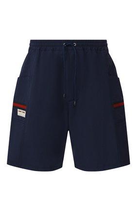 Мужские шорты GUCCI синего цвета, арт. 604172/XDA17 | Фото 1