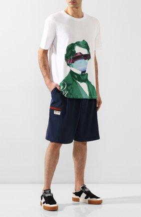 Мужские шорты GUCCI синего цвета, арт. 604172/XDA17 | Фото 2