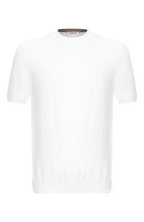 Мужской хлопковый джемпер FIORONI белого цвета, арт. MK20260A2 | Фото 1