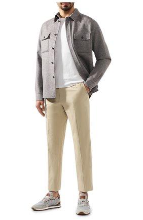 Мужской хлопковый джемпер FIORONI белого цвета, арт. MK20260A2 | Фото 2