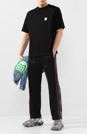 Мужская хлопковая футболка BALENCIAGA черного цвета, арт. 594579/THV63 | Фото 2