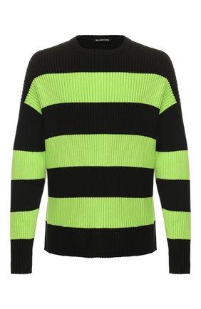 Мужской хлопковый свитер BALENCIAGA зеленого цвета, арт. 608760/T3162 | Фото 1