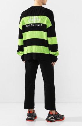 Мужской хлопковый свитер BALENCIAGA зеленого цвета, арт. 608760/T3162 | Фото 2