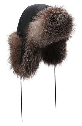 Детского шапка-ушанка саша FURLAND серого цвета, арт. 0107603310010600134 | Фото 1