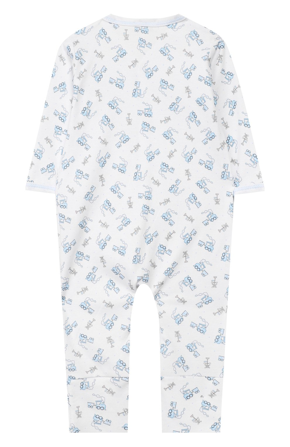 Детский комбинезон tiny choo choo MAGNOLIA BABY голубого цвета, арт. 569-23P-LB   Фото 2