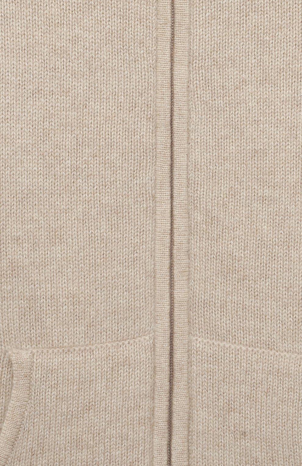 Детский кашемировая толстовка OSCAR ET VALENTINE бежевого цвета, арт. GIL01L   Фото 3
