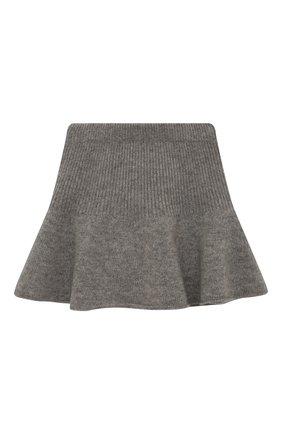 Детская кашемировая юбка OSCAR ET VALENTINE серого цвета, арт. JUP05M | Фото 1