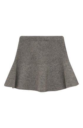 Детская кашемировая юбка OSCAR ET VALENTINE серого цвета, арт. JUP05M | Фото 2