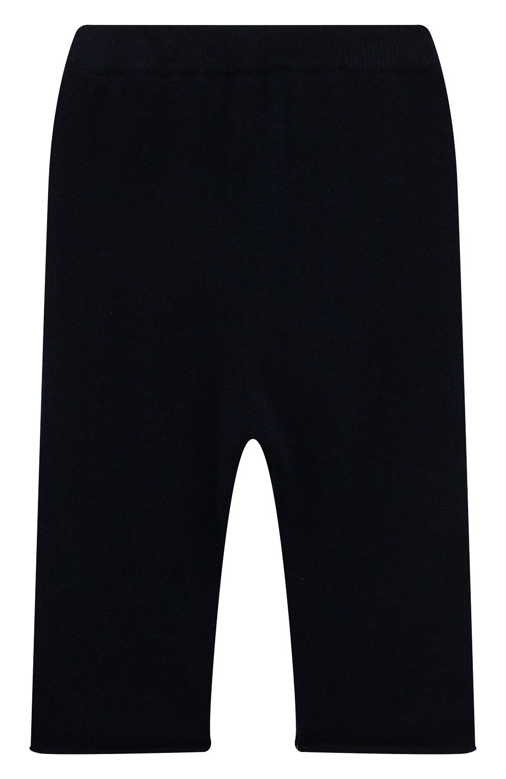 Детские кашемировые брюки OSCAR ET VALENTINE синего цвета, арт. PAN01S | Фото 1