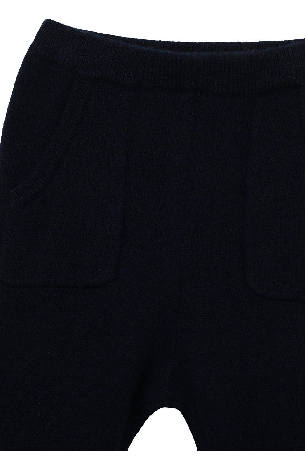 Детские кашемировые брюки OSCAR ET VALENTINE синего цвета, арт. PAN01S | Фото 3