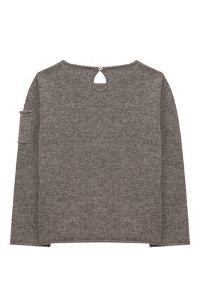 Детский кашемировый пуловер OSCAR ET VALENTINE серого цвета, арт. PUL01ZEBRAS | Фото 2