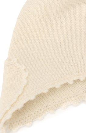 Детского кашемировая шапка OSCAR ET VALENTINE бежевого цвета, арт. BON04HEART | Фото 3 (Материал: Кашемир, Шерсть)