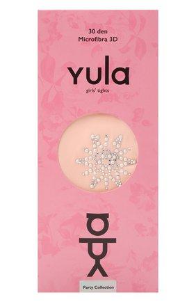 Детские колготки party collection 30 den YULA розового цвета, арт. YU-106 | Фото 1