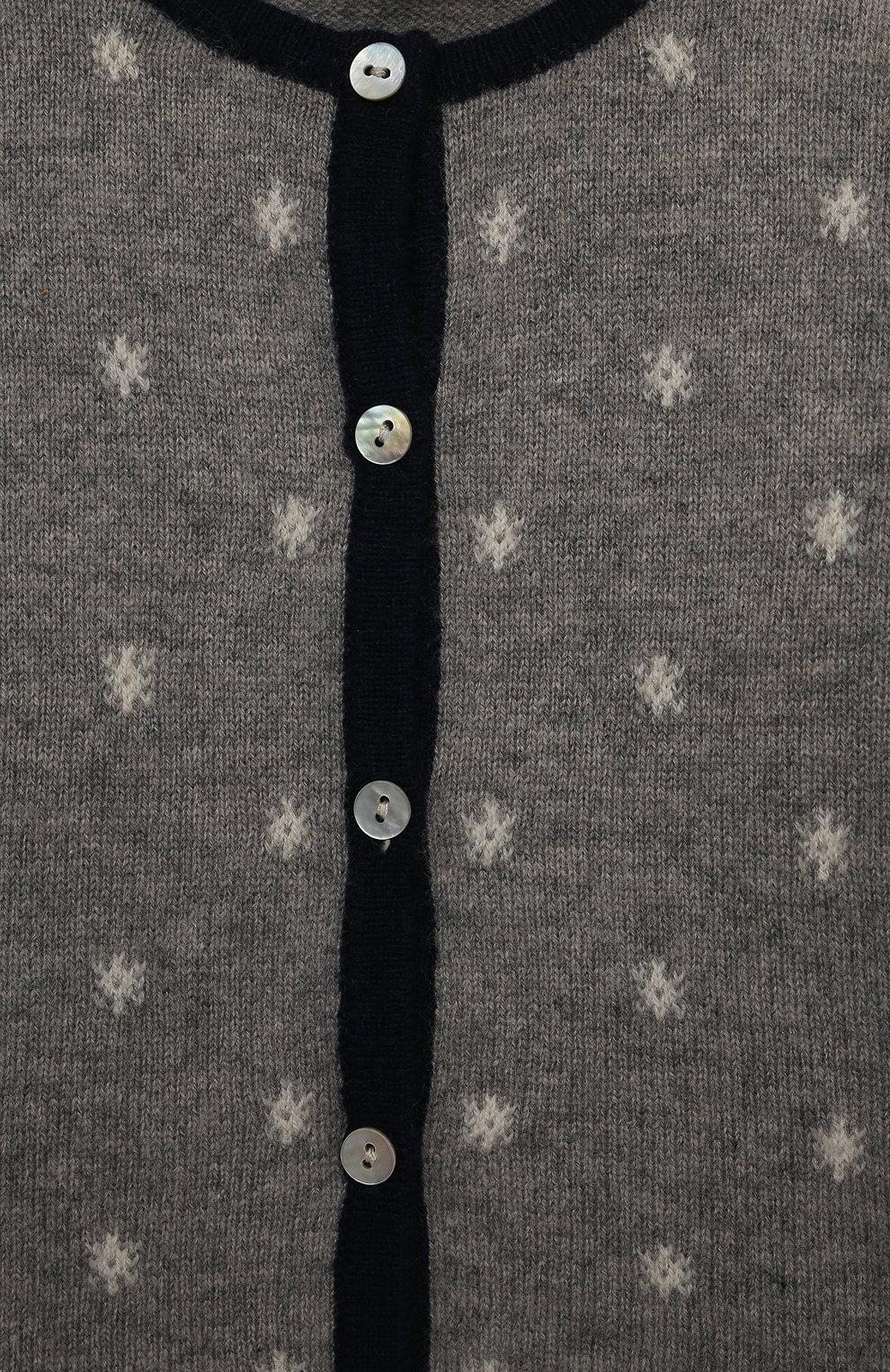 Детский кашемировый кардиган OSCAR ET VALENTINE серого цвета, арт. CARNOS   Фото 3