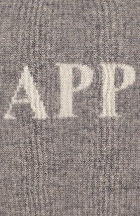 Женский кашемировое платье OSCAR ET VALENTINE серого цвета, арт. ROB01HAPPYS | Фото 3