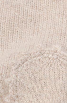 Детского кашемировая шапка OSCAR ET VALENTINE бежевого цвета, арт. BON04HEART   Фото 3
