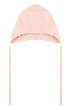 Детского кашемировая шапка OSCAR ET VALENTINE розового цвета, арт. BON04HEART | Фото 1