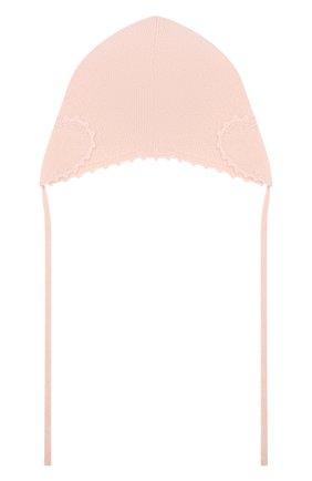 Детского кашемировая шапка OSCAR ET VALENTINE розового цвета, арт. BON04HEART | Фото 2