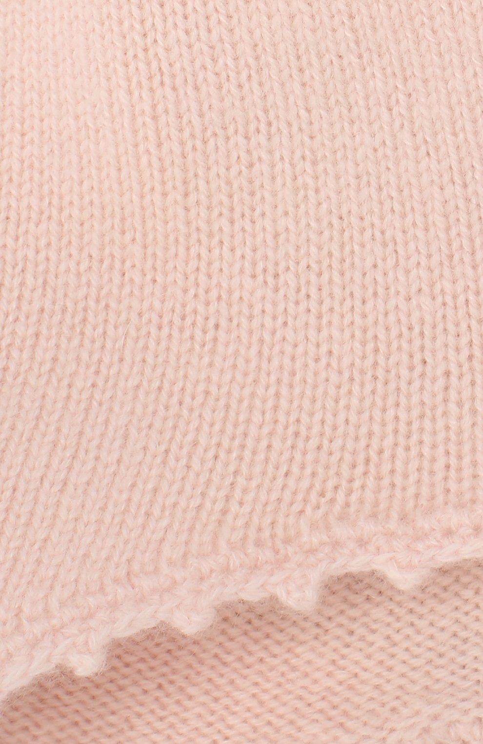 Детского кашемировая шапка OSCAR ET VALENTINE розового цвета, арт. BON04HEART   Фото 3 (Материал: Кашемир, Шерсть)