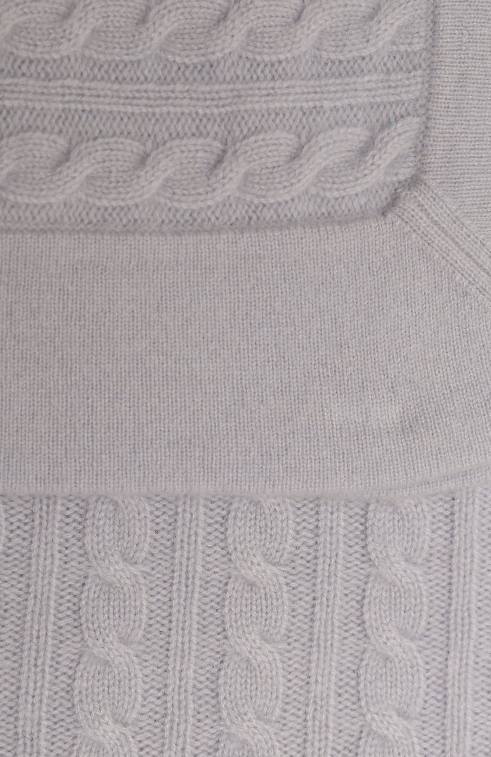 Детского кашемировый плед OSCAR ET VALENTINE синего цвета, арт. COU05   Фото 2 (Материал: Кашемир, Шерсть)