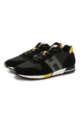 Мужские кроссовки HOGAN черного цвета, арт. HXM3830AN51N4X | Фото 1