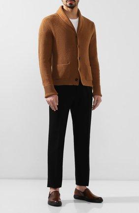 Мужские кожаные слипоны BERLUTI темно-коричневого цвета, арт. S4994-001 | Фото 2