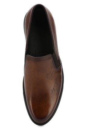 Мужские кожаные слипоны BERLUTI темно-коричневого цвета, арт. S4994-001 | Фото 5