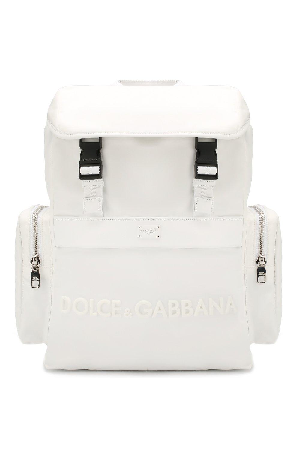 Мужской комбинированный рюкзак street DOLCE & GABBANA белого цвета, арт. BM1601/AZ675   Фото 1