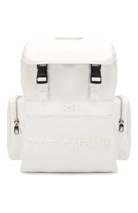 Мужской комбинированный рюкзак street DOLCE & GABBANA белого цвета, арт. BM1601/AZ675 | Фото 1