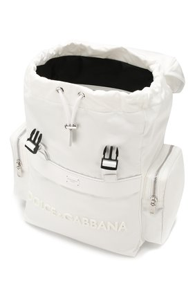 Мужской комбинированный рюкзак street DOLCE & GABBANA белого цвета, арт. BM1601/AZ675   Фото 4