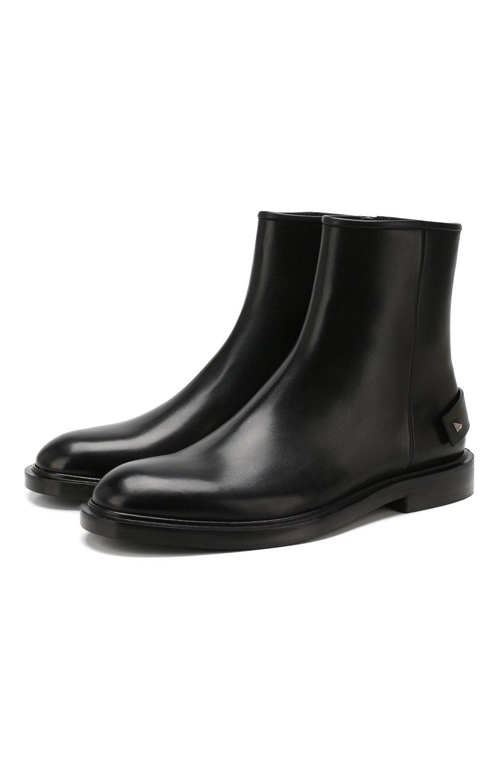 Мужские кожаные сапоги valentino garavani VALENTINO черного цвета, арт. TY2S0D05/PMA | Фото 1