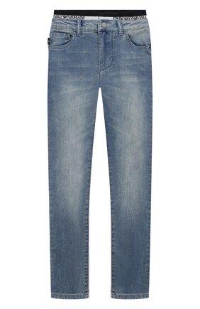 Детские джинсы EMPORIO ARMANI синего цвета, арт. 3H4J17/4DFNZ | Фото 1