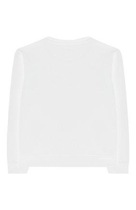 Детский хлопковый свитшот EMPORIO ARMANI белого цвета, арт. 3H4M61/1J36Z   Фото 2