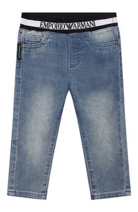 Детские джинсы EMPORIO ARMANI синего цвета, арт. 3HHJ07/4DFNZ | Фото 1