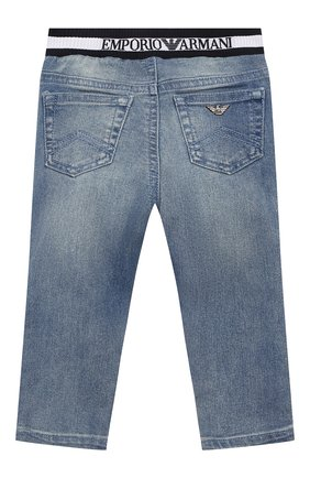 Детские джинсы EMPORIO ARMANI синего цвета, арт. 3HHJ07/4DFNZ | Фото 2