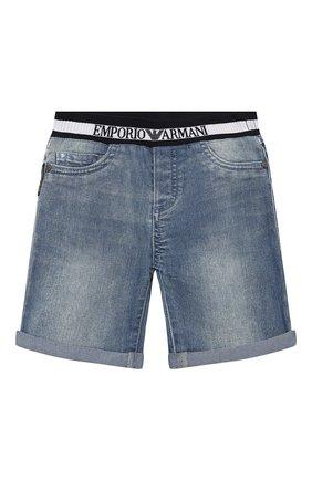 Детские джинсовые шорты EMPORIO ARMANI синего цвета, арт. 3HHS03/4DFNZ | Фото 1