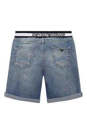 Детские джинсовые шорты EMPORIO ARMANI синего цвета, арт. 3HHS03/4DFNZ | Фото 2