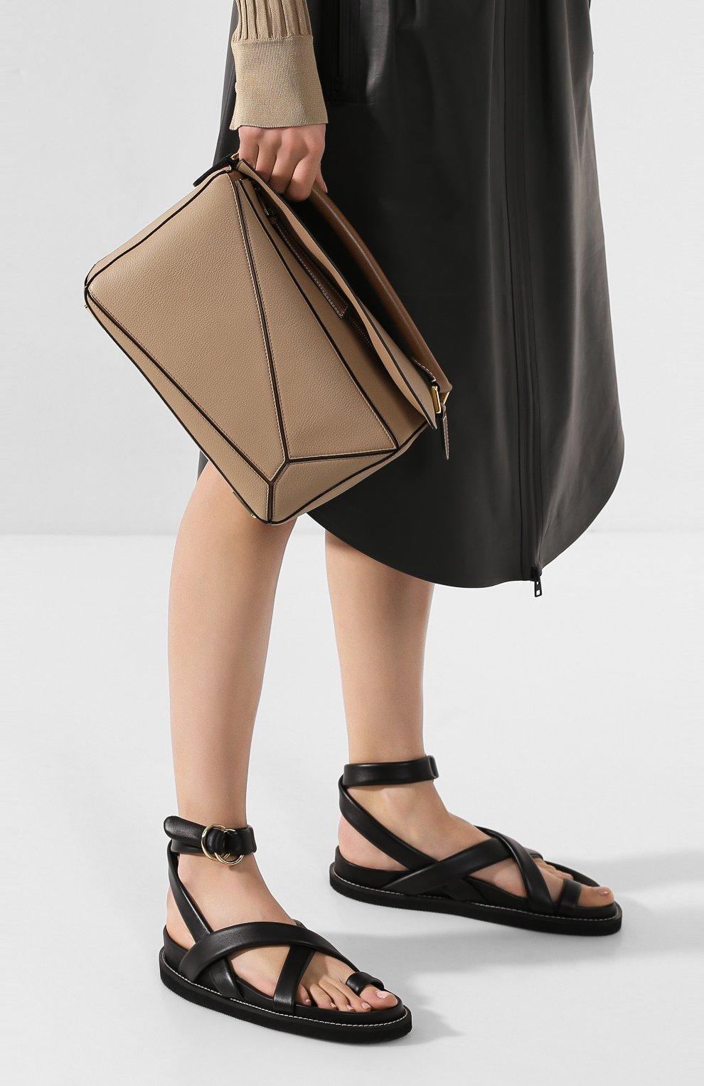 Женская сумка puzzle LOEWE бежевого цвета, арт. 32212KBS20 | Фото 2