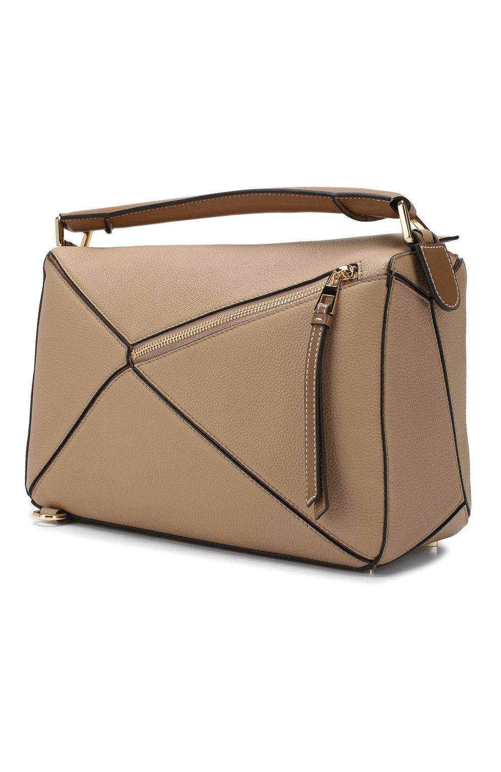 Женская сумка puzzle LOEWE бежевого цвета, арт. 32212KBS20 | Фото 3