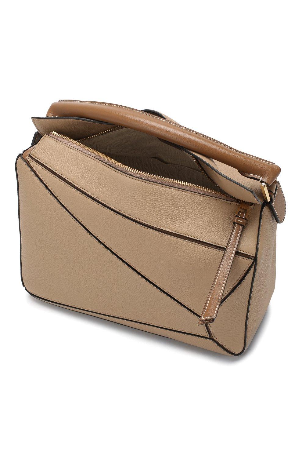 Женская сумка puzzle LOEWE бежевого цвета, арт. 32212KBS20 | Фото 4